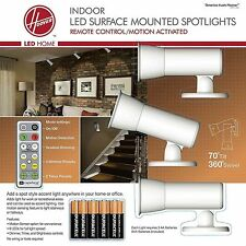 Hoover 3-PK Wireless LED Motion-Activated Accent Spotlights, Remote, & Batteries