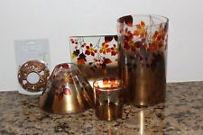 Yankee Candle Gold Ombre Jar Candle Shade & Jar & Tea Light Holder~Fall 2019~NIB