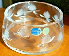 24% PbO Lead Crystal Bowl Fruit Hand cut glass Bohemian Czech Bohemia Heavy
