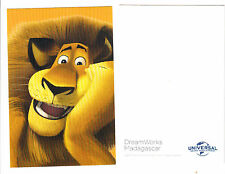 "2017 UNIVERSAL DREAMWORKS MADAGASCAR ALEX LION PROMOTIONAL PROMO CARD 4"" X 6"""