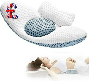 Quality Lumbar Pillow for Sleeping, Adjustable Height 3D Lower Back Support P