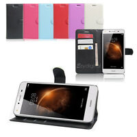 New Wallet Leather Case Cover For Huawei Y6 Elite Y7 4G + Screen Protector
