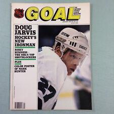 Goal Hockey Magazine January 1987 Doug Jarvis Whalers Mark Hunter poster NHL