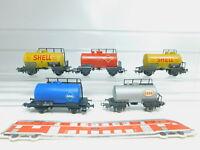 BM564-1# 5x Liliput etc H0/DC Kesselwagen: Aral DB + Esso/Gasolin/Shell ÖBB