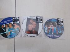 """ABBA 7"""" PIC DISC BUNDLE. VOULEZ-VOUS, TAKE A CHANCE ON ME,DOES YOUR MOTHER KNOW"""