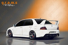 Mitsubishi Lancer Evo 7 8 9 Rear Bumper with Diffuser VII VIII IX Body Kit v4