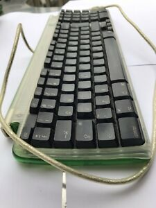 vintage retro apple usb keyboard green 1999 used working condition M2452