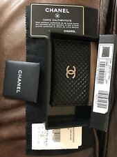 "CHANEL BLACK CAVIAR LEATHER GOLD CC LOGO CREDIT CARD CASE HOLDER WALLET 4.5""x3"""