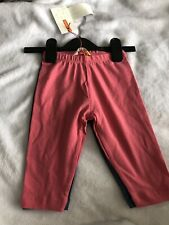 Brand New With Tags Girls Age 3 Cropped Leggings 2 Pairs Pink Blue John Lewis