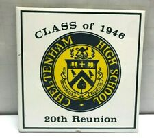 VTG CLASS of 1946 Ceramic Tile Trivet CHELTENHAM High School Reunion Wyncote PA
