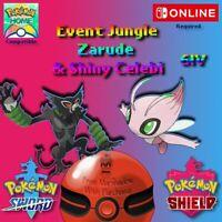 Event Jungle Shiny Celebi & Non Shiny Zarude Pack Pokemon Sword & Shield
