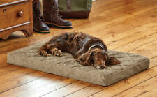 Orvis Memory Foam Platform Dog Bed LARGE Cozy brown tweed Washable Lounge