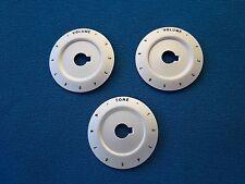 Volume x 2 + Tone Control Knob Base Plates 0-10 Numbers Teisco Style Guitar/Amp