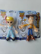 "2019-Mattel-Disney Toy Story 4- 7""Figurines-Woody,Bo Peep Together -3+New!!"