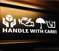 HANDLE WITH CARE Aufkleber Auto Tuning Sticker hand wash only nur handwäsche 140