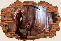 3D Hole in Wall Mystical Reaper View Wall Stickers Film Mural Art Wallpaper 264