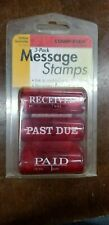 LOT of 3 Stamp-Ever Stamps Received / Past Due / Paid Message Stamp 2931