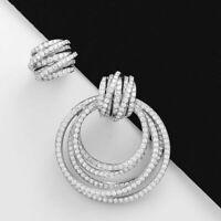 Elegant 925 Silver,Rose Gold Hoop Earrings for Women Jewelry A Pair/set