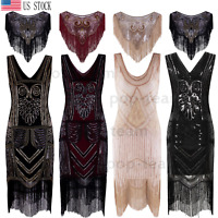 Vintage 1920s Flapper Gatsby Cocktail Dress Wedding Party Formal Evening Dresses