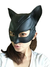 Halloween Catwoman Latex Mask Actor's Full Headgear Christmas Easter Cosplay