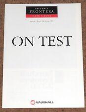 VAUXHALL FRONTERA 2.3TD 5 DOOR Road Test Reprint Brochure 1991