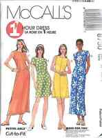 8730 UNCUT McCalls SEWING Pattern Misses Semi Fitted One Hour Dress OOP SEW FF