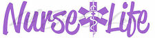 NURSE LIFE VINYL DECAL WITH NURSE CAP STAR OF LIFE CADUCEUS NURSING STICKER