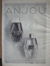 1951 ANJOU Apropos Devasting PERFUME BOTTLE Ad