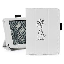Kindle Paperwhite Leather Cover Case Auto Sleep Magnetic Stand Cute Giraffe