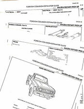1973 1974 MAZDA ROTARY PICK-UP 73 74 BODY PARTS LIST CRASH SHEETS MFRE