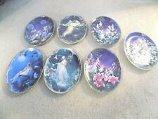 """New ListingLot of (7) Bradford Exchange Fairy Wings And Magic Things Oval 9"""" Plates"""