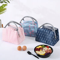 Outdoor Portable Insulated Bento Lunch Box Picnic School Storage Pouch Tote Bag