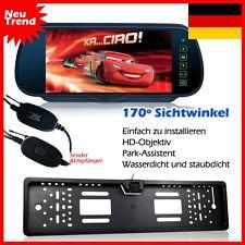 "Funk 4 IR Rückfahrkamera Nummernschild 170° + 7 "" TFT LCD Auto Monitor Spiegel"