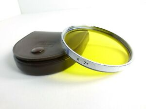 Zeiss Ikon S67 G 2x -1 Yellow Filter with Leather Case