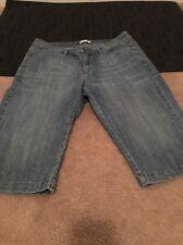 Lee Womens Blue Denim Jean Capri Pants Jeans Clothes Sz 12M