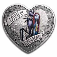 Niue -2021- 1 OZ Silver Proof-  Nightmare Before Christmas - Love is Eternal