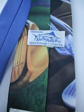 RALPH MARLIN POLY CRAVATTA TIE KRAVATTE MADE IN USA 1993 ON THE COURSE GOLF