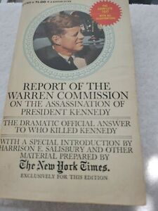 """""""REPORT OF THE WARREN COMMISSION"""" BANTAM BOOKS & N.Y. TIMES PAPERBACK 1964"""