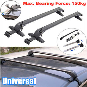 Universal Car Roof Rail Luggage Rack Baggage Carrier Cross CNC Aluminum Alloy