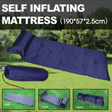 Self Inflating Mattress Camping Hiking Airbed Mat Sleeping with Pillow Bag Camp