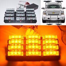 UNIVERSAL FIT NEW WATERPROOF 36 LED AMBER STROBE LIGHTS TOW TRUCK/GOLF CART USA