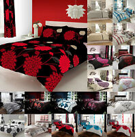 Duvet Cover Set King Size Double Single Super Pillow Cases Curtain Fitted Sheet
