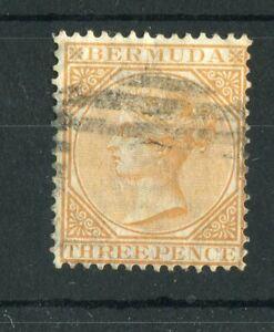 Bermuda QV 1865-1903 3d yellow-buff SG5 used