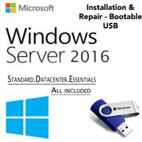 WINDOWS SERVER 2016 EDITION[Standard & Datacenter Core][64GB USB 64 Bit]