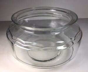 "Nice Vintage Clear Glass Fish Turtle Bowl Approximately 9"" wide & 6"" Tall"