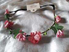 ROSE FLOWER HEAD BAND HAIR DRESS BABY PINK WEDDING BRIDAL