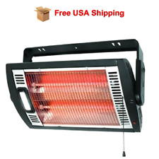 Electric Heater Ceiling Or Wall Mount Garage Space Heaters With Halogen Light