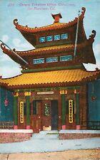 c1910 Chinese Telephone Office Chinatown, San Francisco, California Postcard