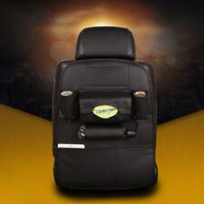 Leather Car Seat Back Bag Organizer Storage iPad Phone Holder Multi-Pocket Black