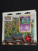 Pokemon- XY Steam Siege-2016- 3-Booster Blister Pack- Azelf- XY142 Promo- New!!!